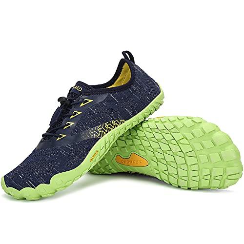 SAGUARO Zapatillas Minimalistas Hombre Mujer Zapatillas de Trail Respirables Zapatillas de Barefoot Ligera Escarpines de Agua Zapatos Running Stil: C Azul Gr.43