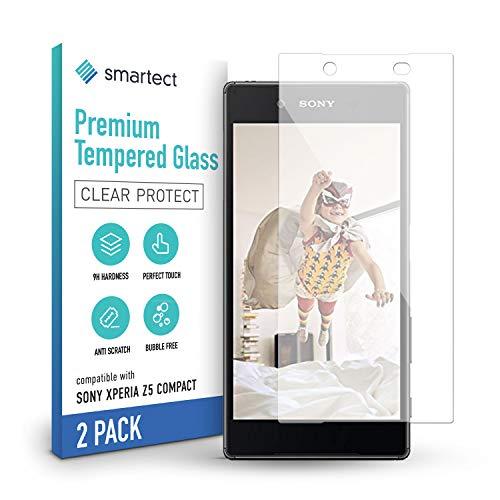 smartect Panzerglas kompatibel mit Sony Xperia Z5 Compact [2 Stück] - Tempered Glass mit 9H Festigkeit - Blasenfreie Schutzfolie - Anti Fingerprint Panzerglasfolie