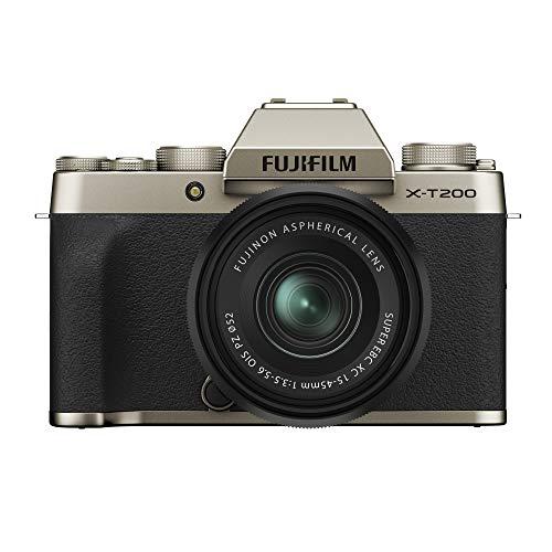 Fujifilm X-T200 - Kit cámara con objetivo intercambiable XC15-45/3.5-5.6 PZ, color dorado