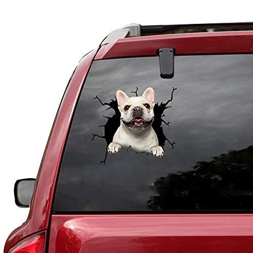 VUGALOLY STORE 5 pcs Funny French Bulldog Pet Puppy Miniature Sticker Cars Crack Decal Trucks Walls Laptops 12x12inch Da-0228
