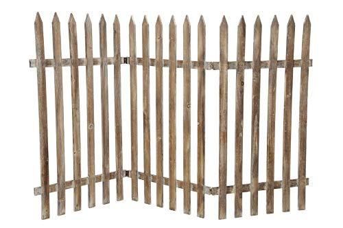 Deko-Zaun Holz-Zaun Jäger-Zaun 3 Zaunelemente a 40 cm zum klappen 60 cm hoch Vintage