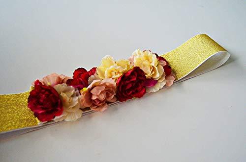 Cinturón de flores Rojo