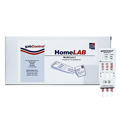 GABCONTROL HomeLAB MultiCard 3 Drogentest 1 St