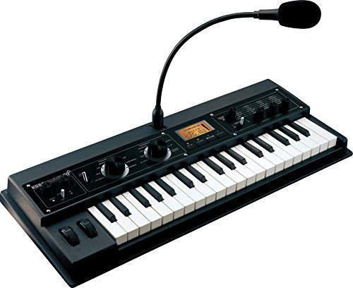 KORG microKORG XL+ Synthesizer Vocoder, analoger Modeling Synthesizer mit 128 Programs, High-End-Synthese zur Soundgestaltung, schwarz