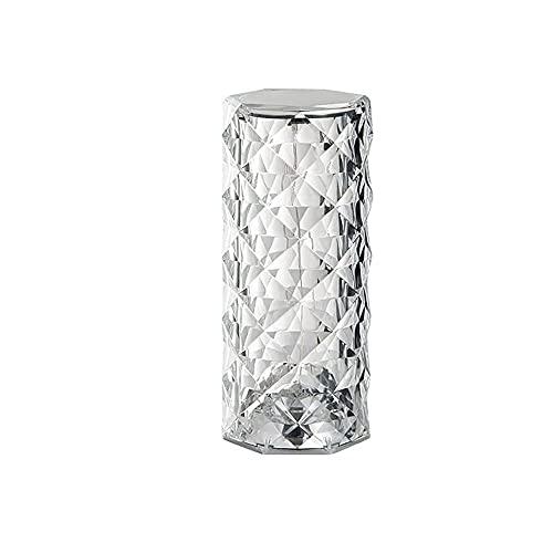 YSGE Lámpara de Mesa Decorativa con Control táctil, lámpara de Mesa de atmósfera LED con Forma de Rosa de Diamante, lámpara de Mesa de Cristal con Control Moderno con Pantalla Multicolor