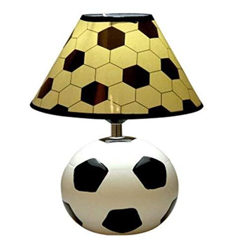 YWSZJ Iluminación de la lámpara de cerámica Deportes temáticas Escritorio de la Tabla de Gran Cuartos de los niños, luz de Lectura for el Dormitorio Dormitor, Color, una Suave