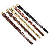 Juego de palillos de madera, simple y elegante juego de regalo de palillos ligeros y ecológicos, para clientes, socios comerciales