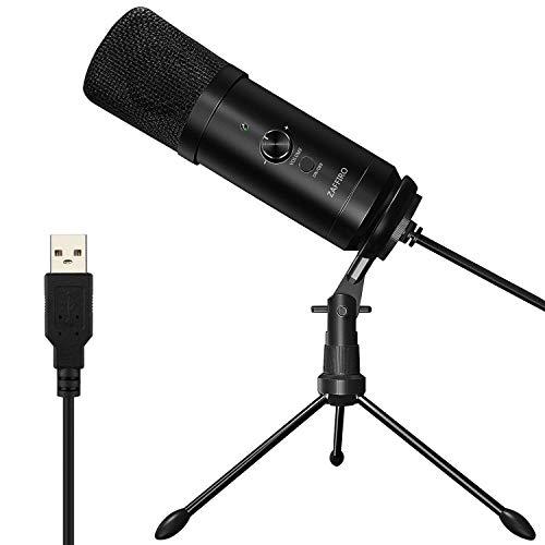Z ZAFFIRO 、Micrófono USB, Micrófono para computadora Plug & Play Micrófono para grabación de Metal para PC/Laptop/Escritorio/portátil, Cardioid Studio Grabación de Voces para Youtube (Windows/Mac)