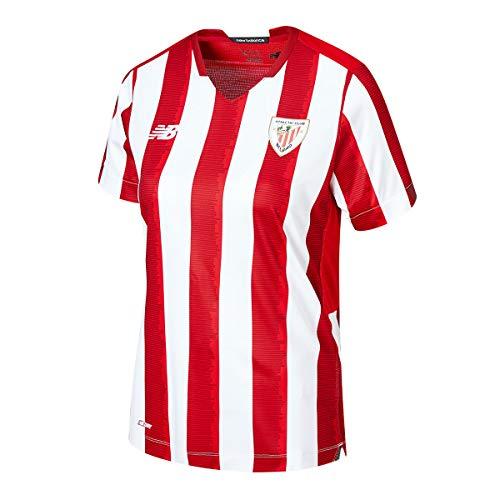 New Balance AC Bilbao Primera Equipación 2020-2021 Mujer, Camiseta, Red-White, Talla L
