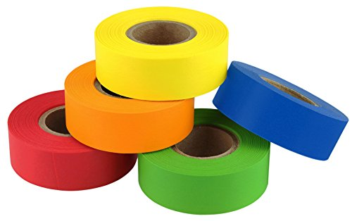 ChromaLabel Color-Code Labeling Tape Variety Pack, 5 Assorted Colors, 500 inch Rolls, 3/4 inch