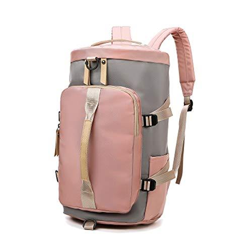 Zaino sportivo da viaggio, borsa da viaggio, stile vintage, in tela, per palestra, fitness, borsa a tracolla, per donna/uomo