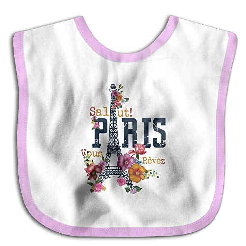 France Paris Tour Art Infant Toddler Bavoirs Super Absorbant Conception Mignonne Bavoir Bébé Drôle Baby Shower