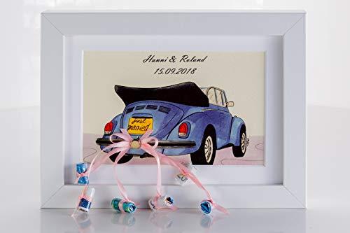 Hochzeitsgeschenk Geldgeschenk Auto Bilderrahmen
