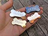 Jinglrr Personalized Stainless Steel Dog Tags Cat Tags (Rose Gold,...