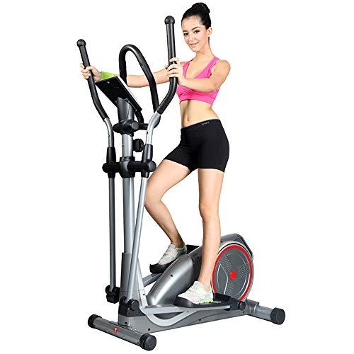 Wuxingqing Elliptischer Crosstrainer für Zuhause, Fitness, Cardio-Training, Workout für Zuhause, Büro, Fitness, stahl, silber, Free Size