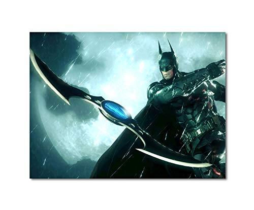 Anzonto - Pintura enmarcada (28 x 20 cm), diseño de murciélago Arkham Knight Batarang