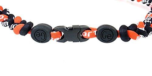 『三つ編みゲルマニウムネックレス スポーツネックレス アスリートネックレス 6mm 赤黒黒 RB-RDBKBK』の2枚目の画像