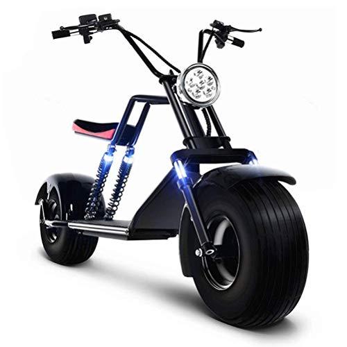 ZGYQGOO Elektroroller Harley Elektroauto Elektro Skateboard Lithium Batterie Harley Elektro Walker Erwachsenen Breitreifen Elektroauto 60V 20A 1500W