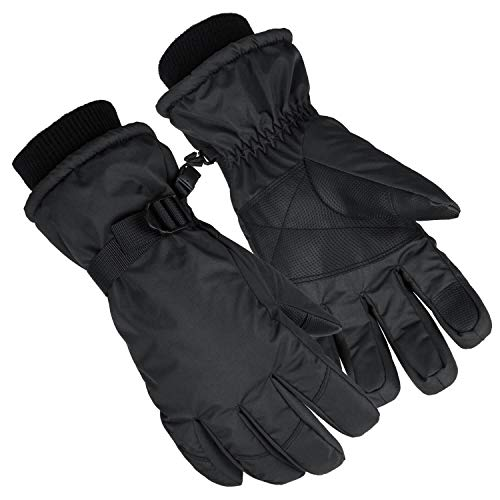 Winter Gloves, Waterproof Touchscreen Snow Ski Glove for Skiing/Snowmobile/Driving/Motorcycle Riding/Cycling/Hiking/Ice Fishing/Outdoors Work - Hands Warm in Cold Weather for Men and Women Large Black