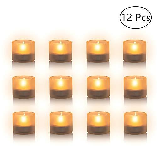 Nuptio 12 Stück Milchglas Kerzenhalter, Mini Teelicht Kerzenhalter, 4.3cm Breite x 3.9cm Höhe für Geschenke, Hochzeiten, Partyartikel und Heimtextilien