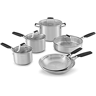 Select by Calphalon Stainless Steel 10-piece Cookware Set