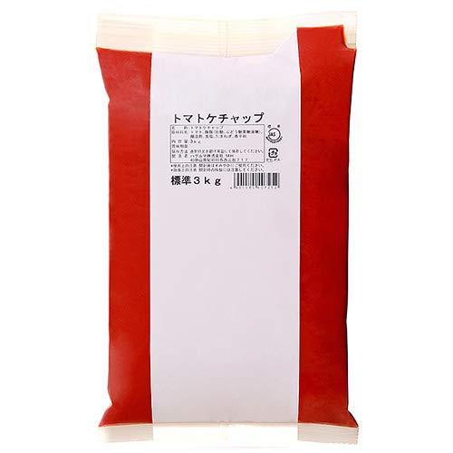 ハグルマJAS標準 トマトケチャップ3kg袋パック×4袋入×(2ケース)