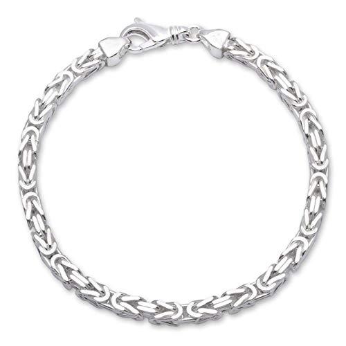 925 Silberarmband: Königsarmband Silber 4,5mm breit - Länge frei wählbar KA0045
