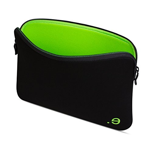 Be.ez La Robe - Case for 13-Inch MacBook Pro Retina - Black and Wasabi Green