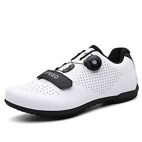 Zapatos De Bicicleta Zapatillas De Bicicleta De Carretera, Zapatillas De Ciclismo Unisex Sin Bloqueo, Zapatillas Asistidas, Zapatillas Deportivas De Ciclismo De Montaña De Fondo Duro