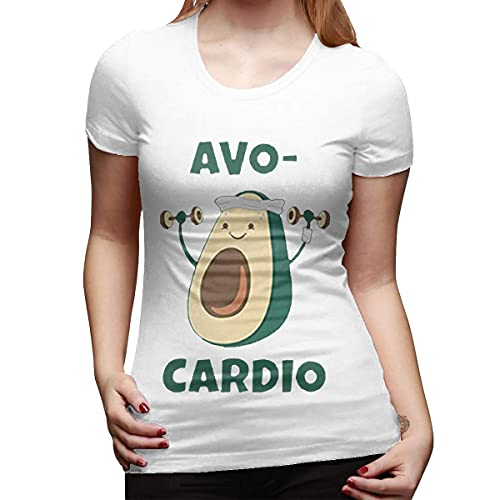 road Womens Casual Short Sleeve T-Shirt with AVO Cardio Camisetas y Tops(XX-Large)