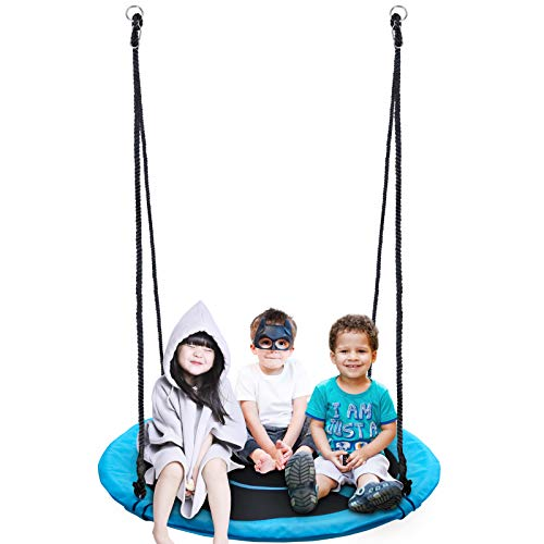 Homde Flying Saucer Swing 60 Inch 880lb Anti-Fade Tree Swing Set Outdoor Indoor Swings with Adjustable Straps for Kids, Men, Women and Teens (60 Inch Upgrade Version)