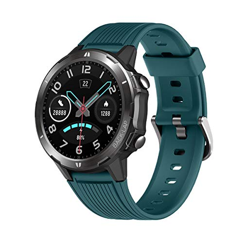 """LATEC Smartwatch, Reloj Inteligente con 1.3"""" Pantalla Táctil Completa, Pulsera Actividad Inteligente Hombre Mujer 5ATM Impermeable Reloj Deportivo con Cronómetro Pulsómetro para Android y iOS (Verde)"""