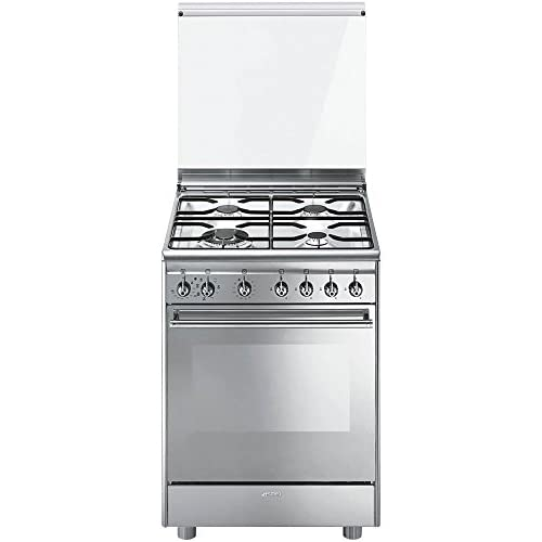 Smeg CX68M8-1 Libera installazione Piano cottura a gas A Acciaio inossidabile cucina