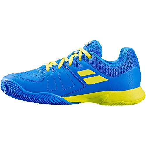 BABOLAT PULSA Junior, Zapatillas de Tenis Unisex Adulto, Blue Aster/Sulphur Spring, 39...