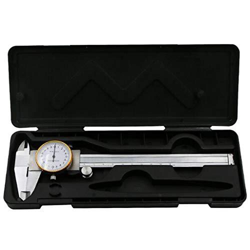 Calibres con Dial, Pie de Rey con Reloj Instrumento de Medición del Dial Redondo - 0-150mm