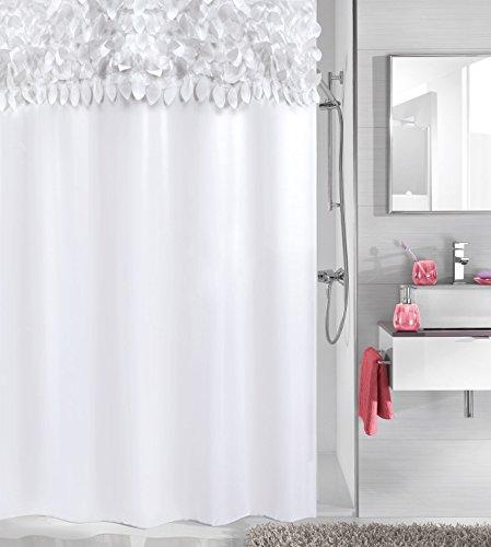 Kleine Wolke textilgesellschaft Duschvorhang, Synthetikfasern, weiß, 200x 180cm