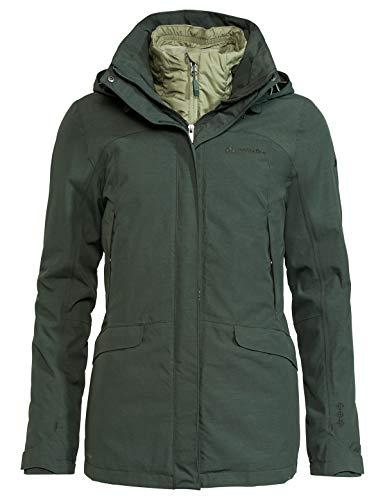 VAUDE Damen Women\'s Skomer 3in1 Jacket Doppeljacke, Spinach, 42