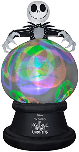 Gemmy 9' Projection Airblown Globe NeonGlo NBC w/Hovering Jack-LG-Disney (YOGPl)