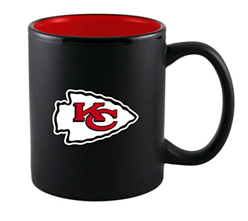 NFL Black Matt Two Tone Logo Tasse Becher Verschiedene Teams (one Size, Kansas City Chiefs)