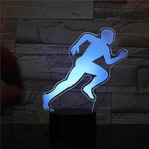 Nndxh Hombre 3D Led Luz Decorativa Luz Nocturna Sensor Táctil Niños Niños Kit De Bebé Luz Nocturna Decoración De Luz 3D Regalo De Deportes Voladores, Regalo Nuevo
