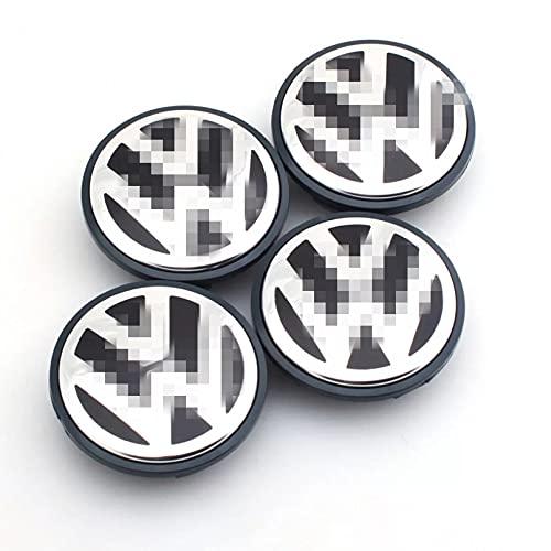 BASTKBOY 4 unids/Set63/65mm Tapa Central de Rueda Logo Hub Cubierta Insignia Emblema para VW Volkswagen Jetta MK5 Golf Passat