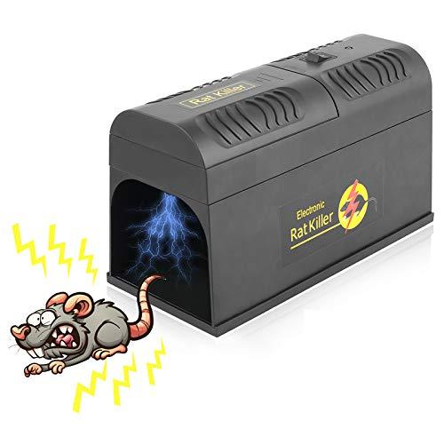 FORMIZON Trampa para Ratones, Trap Electrónica para Ratas, No See sin Contacto Diseño Reutilizable para Capturar Ratones, Ratas en Interiores y Exteriores