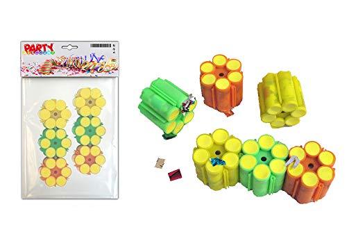 PARTY DISCOUNT ® Munition Konfettipistole, 5 Packungen mit je 6 x 6 Schuß ( 180 Schuß insgesamt )