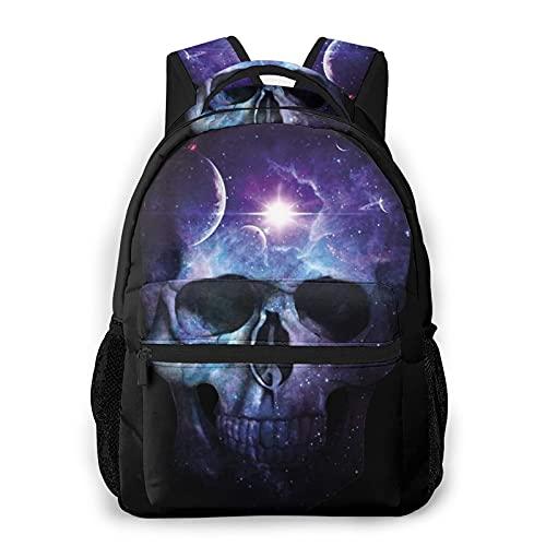 BYTKMFD Sugar SkullMochilas para libros escolares, bolsa de transporte ligera de viaje - negro - talla única