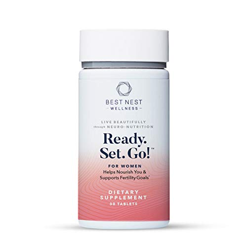 Ready. Set. Go! Fertility Support Prenatal Multivitamin for Women, Methylfolate (Folic Acid), Whole Food Herbal Fertility Blend, Immune Support, 30 Ct, Best Nest Wellness