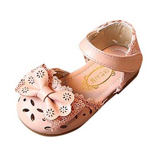 Berimaterry Zapatos para niña Sandalias Bebe Verano Antideslizante 2019 Playa Suela Blanda Zapatos de Princesa Elegantes Flor Casual Solos Zapatos de Cuero pequeños Bebé-para Niños