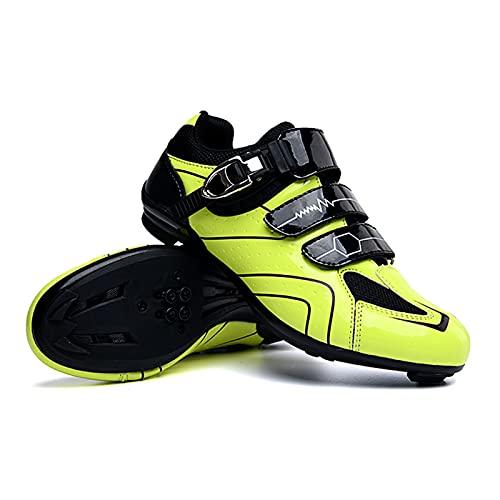 Flytise Herren Road MTB Fahrrad Fahrradschuhe Spin Schuhe Lock Pedal Fahrradschuhe Ultraleichte, komfortable Auto-Lock Fahrradfahrräder Fahrradschuhe