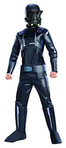Rubies Rogue One: A Star Wars Story Childs Deluxe Death Trooper Costume, Large, Black/Gray
