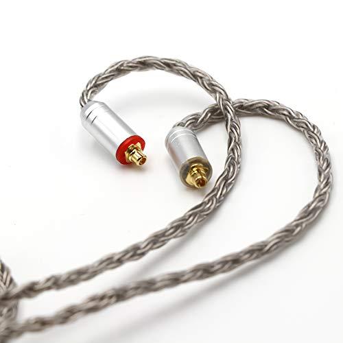 Linsoul Tripowin Zonie 16 Core Silver Plated Cable SPC Earphone Cable for TIN Audio T2 T3 UE900s SE215 SE425 BGVP Earphones(MMCX-3.5mm, Grey)