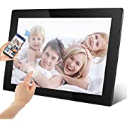 1024x768 Full HD 16:9 IPS Display with Motion Sensor Photo//Music//Video Player Calendar Alarm Auto On//Off Timer with Remote Control Support USB and SD Card,White Digital Photo Frame 8 inch